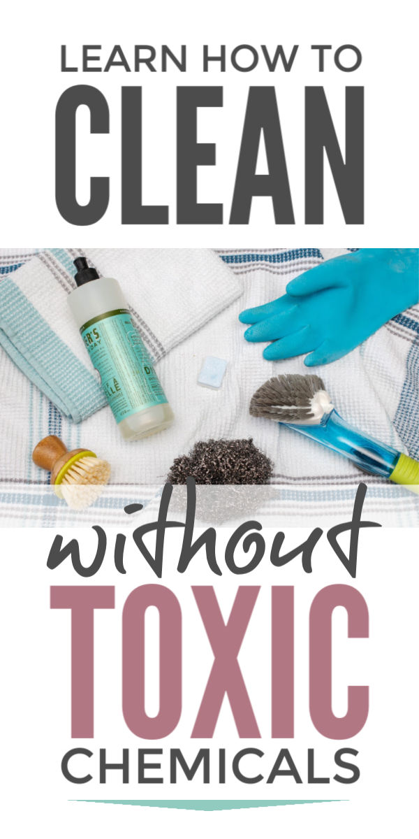 Chemical free cleaning products and simple DIY recipes to clean your house safely with baking soda, vinegar and other natural supplies that will protect your health #chemicalfree #nontoxic #cleaning #cleaningtips #cleaninghacks #springcleaning #naturalcleaning #ecofriendly #greencleaning #toxinfree #toxins #bakingsoda #vinegar #eco