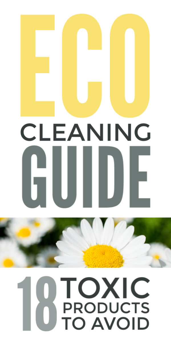 Eco cleaning guide - simple eco friendly ideas and DIY green cleaning and laundry products using natural, non toxic home supplies including white vinegar, baking soda, hrydogen peroxide, castille soap and water   #cleaningtips #cleaninghacks #springcleaning #naturalcleaning #ecofriendly #chemicalfree #greencleaning #toxinfree #toxins #bakingsoda #vinegar #eco