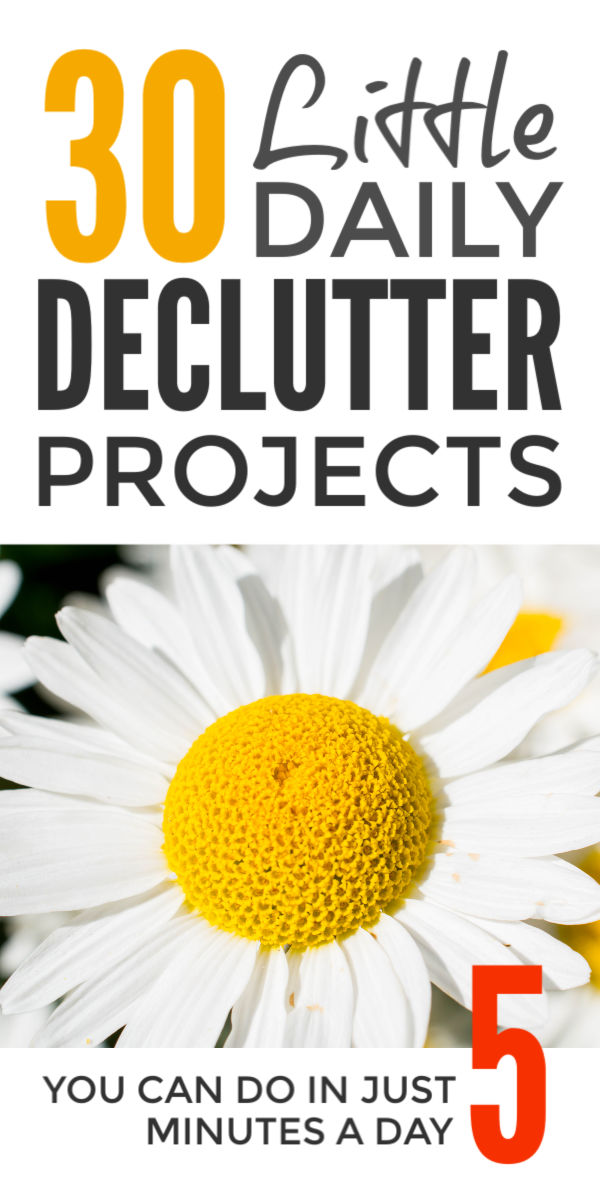 Declutter and organize your home when you are feeling overwhelmed and the Konmari decluttering method is not working. The simple daily declutter ideas, tips and challenges will have your kitchen & bedroom clutter free. And despite what Marie Kondo says will only take 5 minutes a day #declutter #decluttering #organize #clutterfree #decluttertips #declutterchallenge #mariekondo #konmari