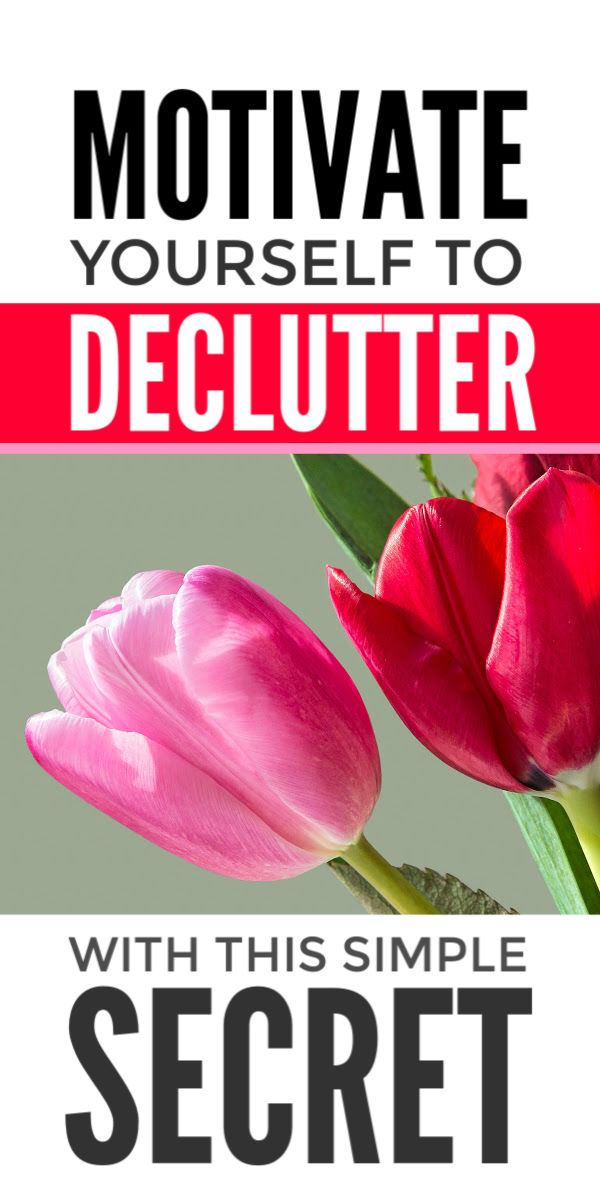 Declutter motivation when you're overwhelmed and more storage solutions or Marie Kondo's Konmari method is not the answer. These simple decluttering tips will help you win the clutter challenge and achieve a clutter free life and home so you can simplify and organize your things and small spaces. #declutter #decluttering #simplify #decluttertips #clutterfree #organize #clutter #organization