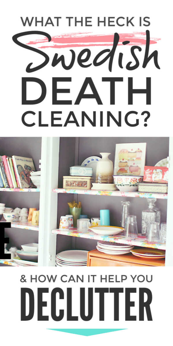 Declutter and organize your home from your bedroom to your kitchen with the new Swedish Death Cleaning declutter book. With tips and ideas to meet the challenge of living more simply clutter free it will help you beat the challenge of clutter in our life today #declutter #decluttering #decluttertips #organize #downsize