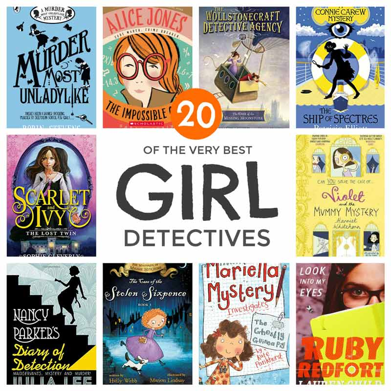 20 of the very best girl detectivies in kids literature including a whole bunch of new series #kidsbooks #crimefiction #booklover