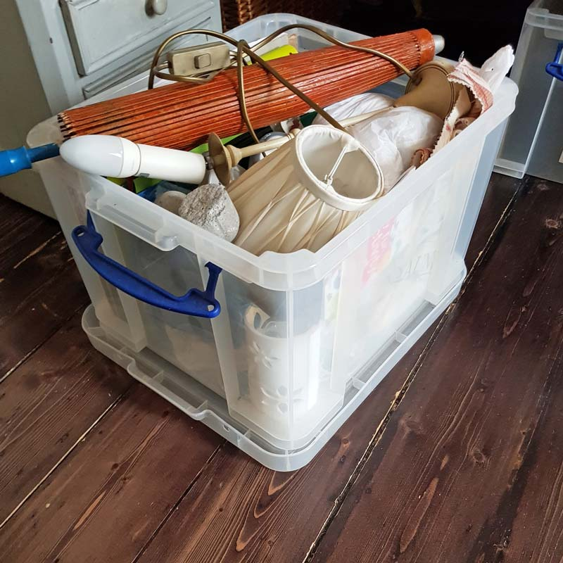Declutter your boxes - use this simple declutter trick to banish all the boxes overwhelming your home #declutter #simplify #organize