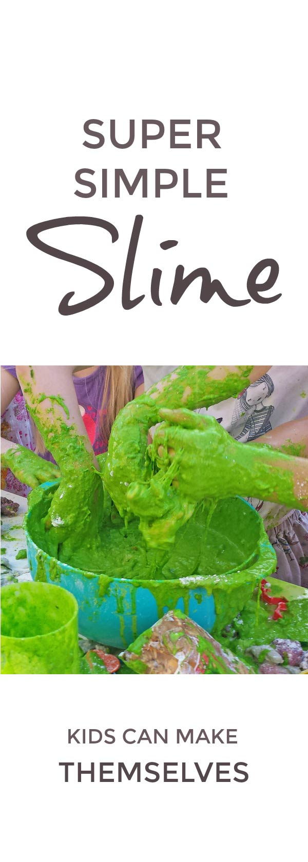 Super simple slime kids can make themselves #slime #playdough #science #STEAM #nonnewtonian