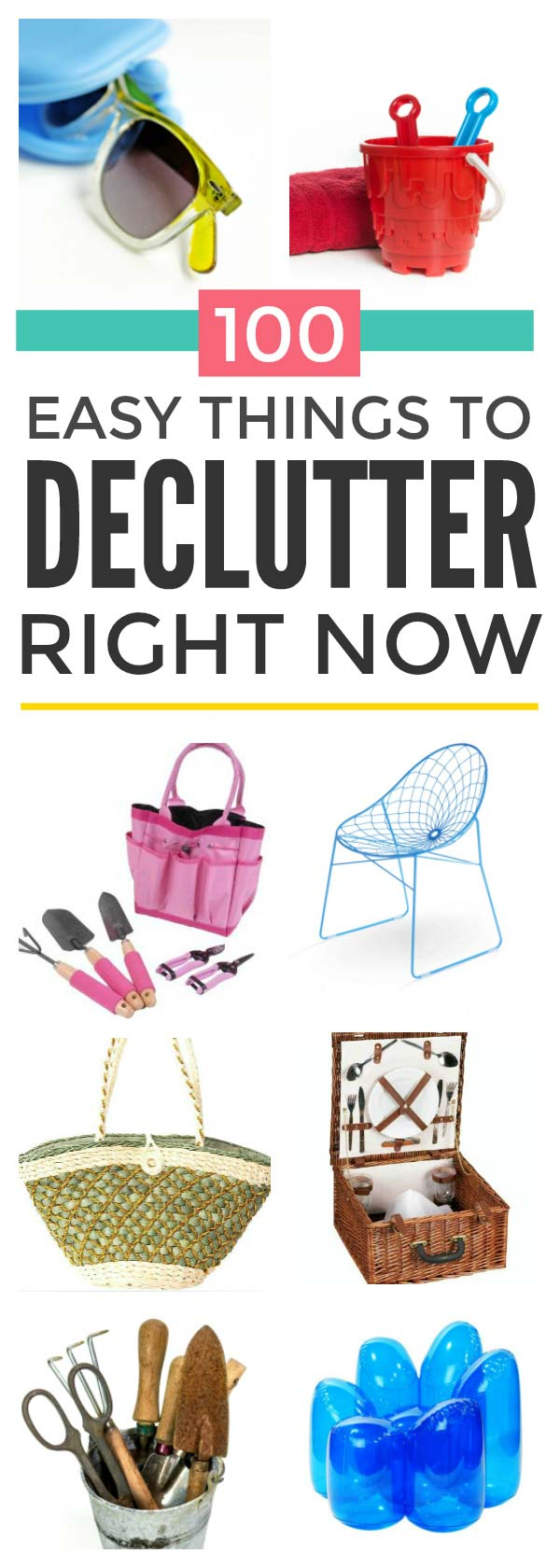 100 easy things to declutter right now to give you space to enjoy the summer #declutter #clutter #sellclutter #makemoney #simplify #organize