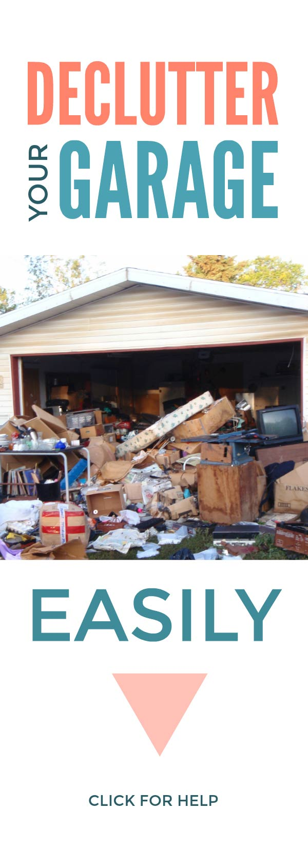 Declutter your garage with these simple hacks that will conquer your clutter and organize your garage without you getting overwhelmed #declutter #clutter #organize #hacks #simple
