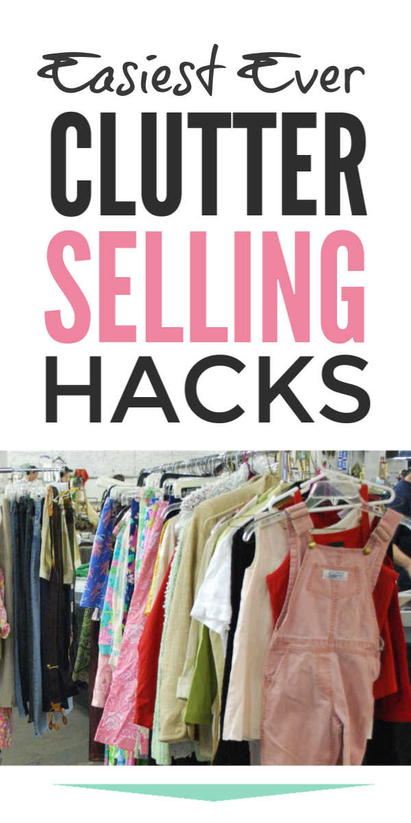Make money fast selling clutter and clothes online fast with these clever declutter hacks and tips for generating extra cash #clutter #declutter #springcleaning #clutterfree #makemoney #makemoneyonline #makemoneyfromhome #makemoneyfast #selling #simplify #makeextramoney