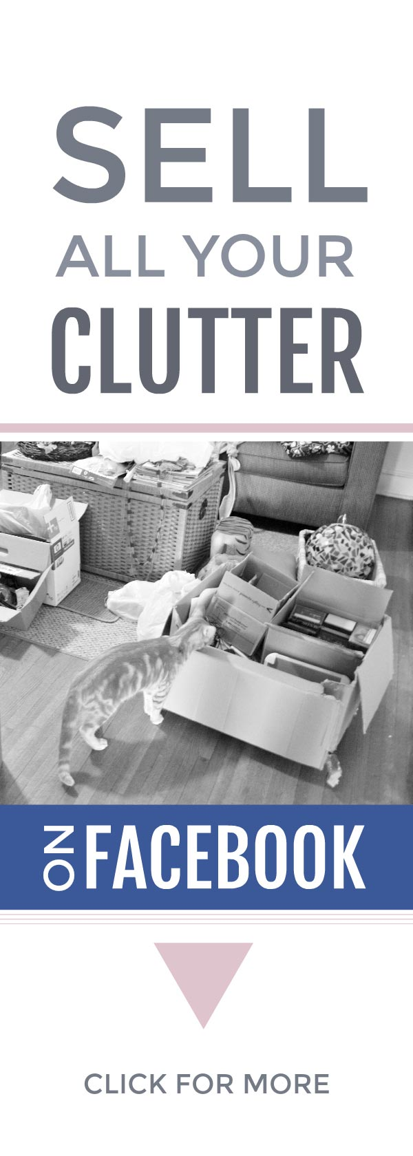 Sell your clutter easily on Facebook #declutter #clutter #simplify #frugal #organize #makemoney