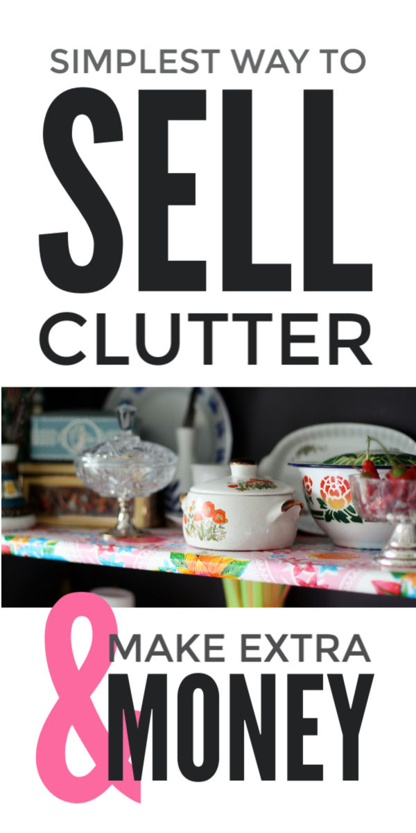 Sell clutter and clothes online simply after a big spring clean or declutter of your home and make extra cash easily #clutter #declutter #springcleaning #clutterfree #makemoney #makemoneyonline #makemoneyfromhome #makemoneyfast #selling #simplify #makeextramoney