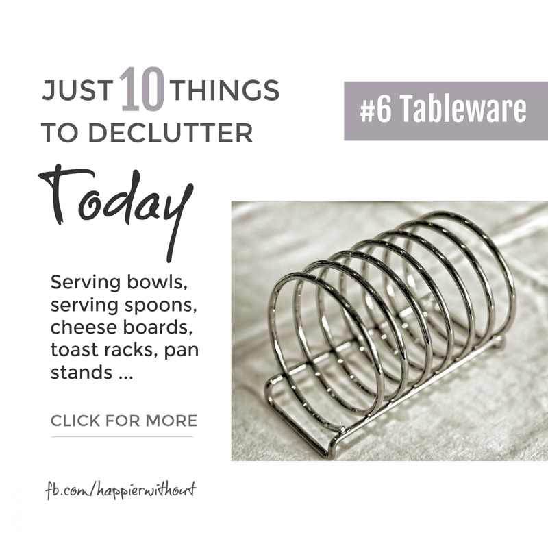 How much of that tableware crammed in your cupboards ever makes it onto the table? Serving bowls you never liked? Cracked cheese boards? Long forgotten toast racks? And the rest ... let them go and enjoy the space. #declutter #clutter #simplified #organized #livewithless