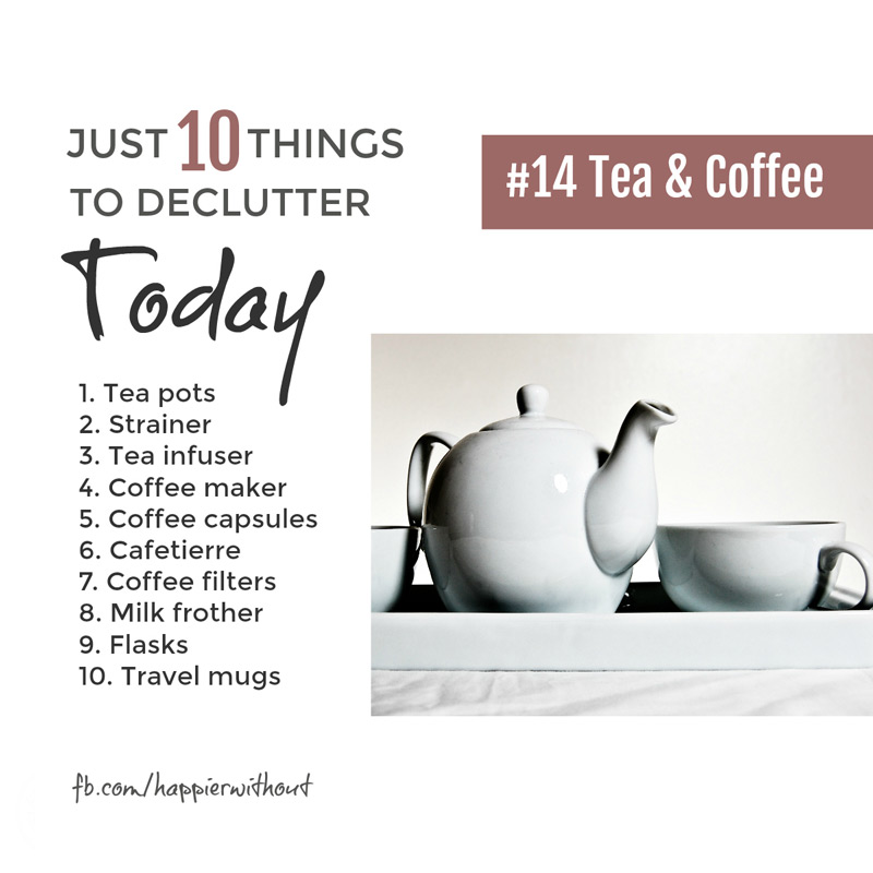 We all like a good cuppa don't we? But do really need so many different pots and gadgets for making a simple cup of tea or coffee. Let some go ... #declutter #minimalist #livewithless