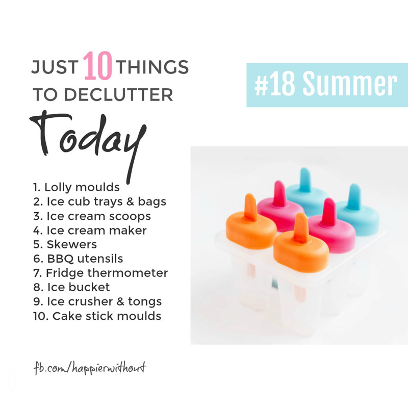 Obviously there's some stuff we keep just for the summer, but if we don't even use it in the summer, it really is time to let it go ... #declutter #organized #summer #just10things #happierwithout
