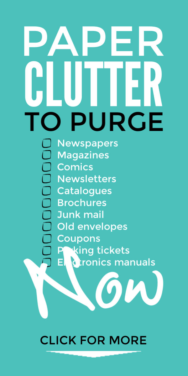 Declutter and organize your paperwork and purge your paper clutter with these simple steps that will let you take control of your home and home office filing system so it stops taking over your home #organize #organization #organizing #declutter #declutteryourhome #decluttering #declutteringtips #clutter #clutterfree #clutterfreehome #paperwork #filingsystem #homeoffice #homeofficeideas