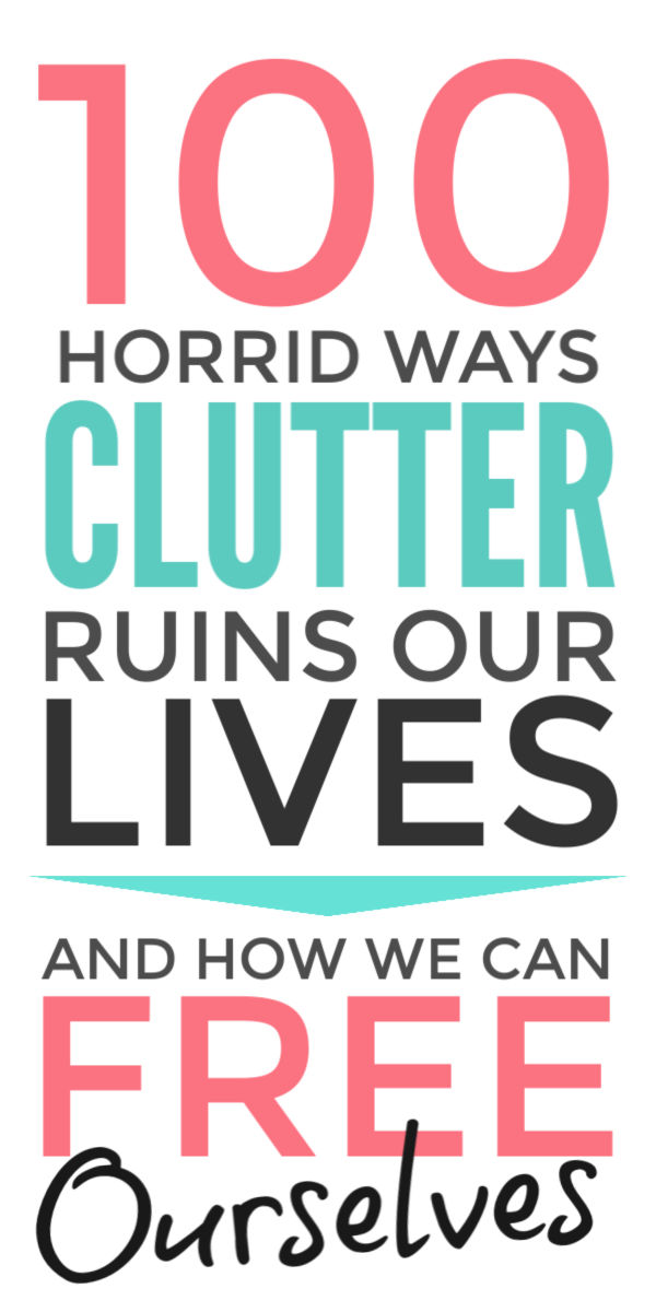 Recognise how clutter sabotages your self care, mental health and finances and take the first easy steps to declutter and simplify your life #selfcare #mentalhealth #finances #clutter #declutter #decluttertips
