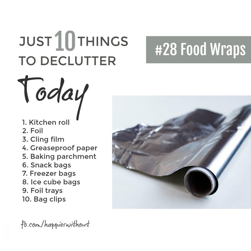 How many different products do we really need to wrap around food. Ditch all those rolls and rolls of stuff you're cluttering your kitchen with and keep it simple ... #declutter #storage #organize