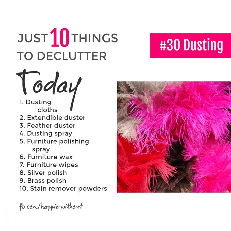 Dusting's pretty simple right? So why have we all got so many products and polishes cluttering up the cleaning cupboard. Keep it simple, let them go ... #declutter #cleaning #organize
