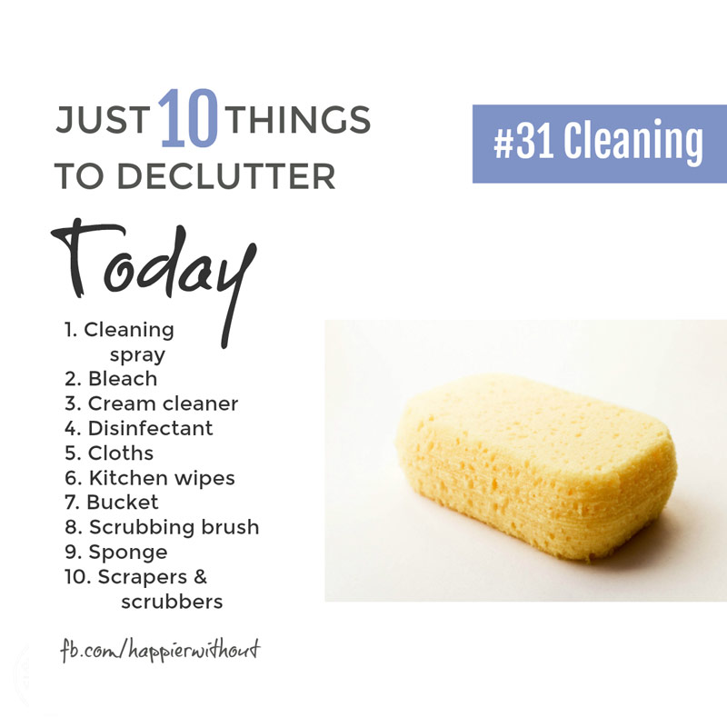 You truly can clean your whole home with micro fibre clothes, dish washing liquid, baking soda and vinegar ... declutter all that other cleaning stuff cluttering up your kitchen and keep it simple #declutter #simple #organize