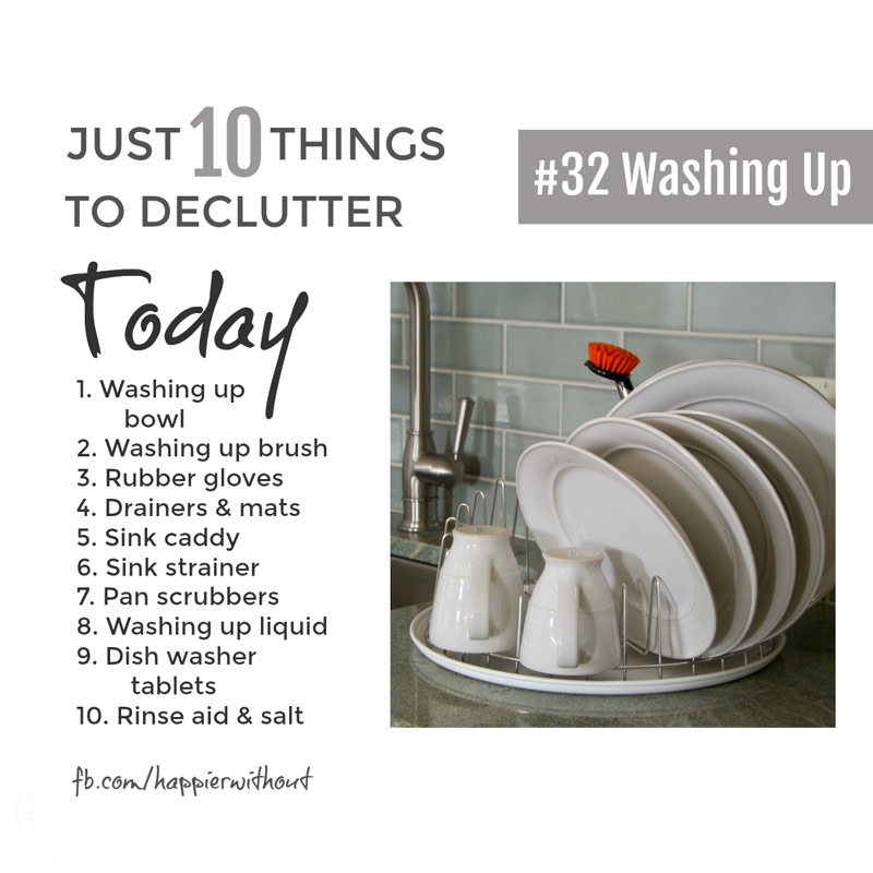 The kitchen sink is a magnet for mess and clutter so keep it simple, declutter and make it easy to stay organized #declutter #simple #organize