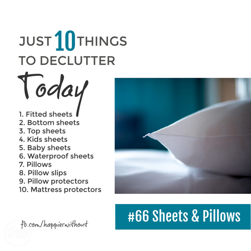 Declutter the bedroom sheets and pillows you truly don't need and enjoy a simple clutter free bedroom #declutter #clutterfree #simplify