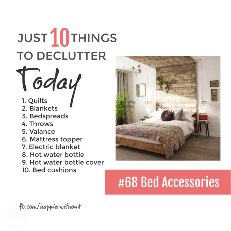 Declutter all those bedroom accessories in storage and cluttering up your bedroom and enjoy a simple clutter free bedroom #declutter #clutterfree #simplify