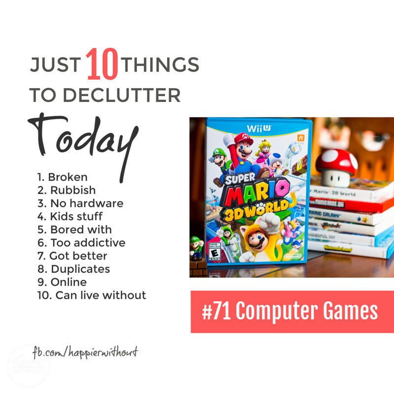 Declutter computer games #declutter #storage