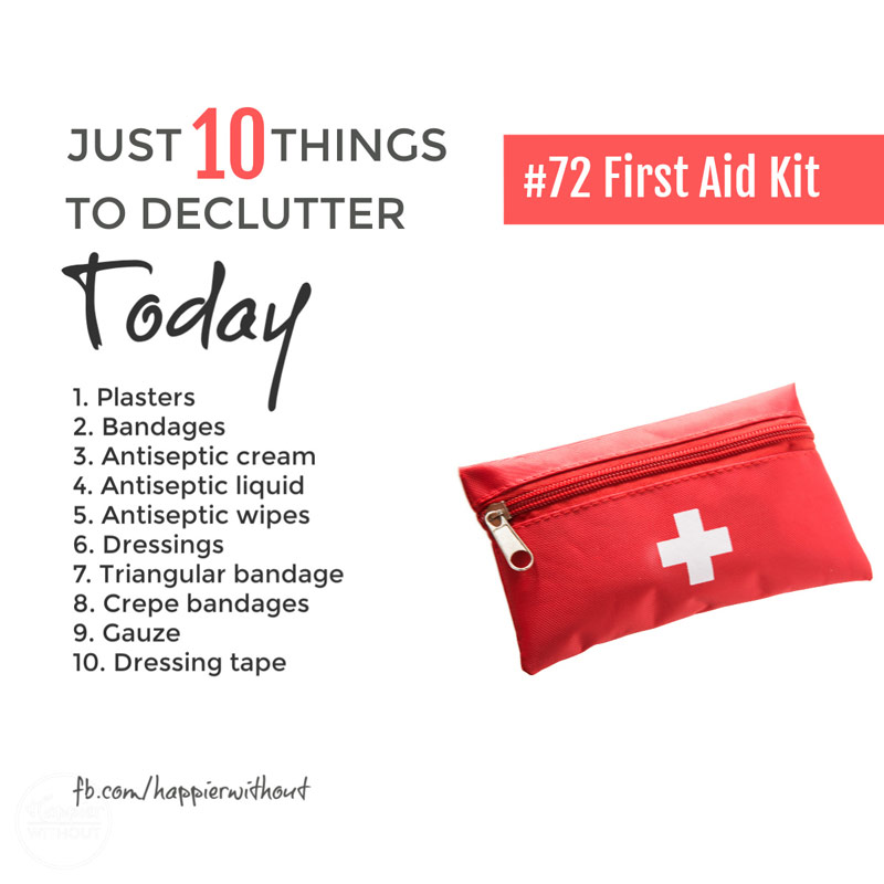 Declutter your bathroom cabinet of all those expired first aid kit items cluttering up precious small spaces under the sink with these decluttering tips and ideas #declutter #decluttering #bathroom #cabinet