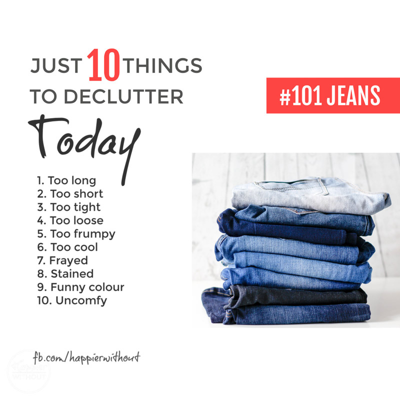 Declutter jeans