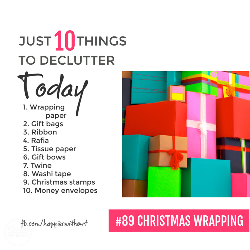 Quickly declutter all the tatty old Christmas gift wrap you're never going to use ...