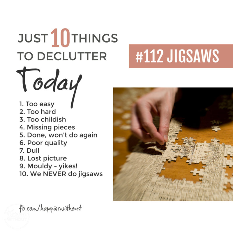 Declutter jigsaws
