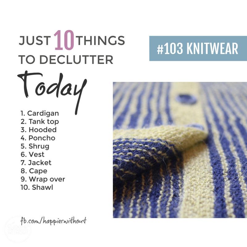 Declutter knitwear