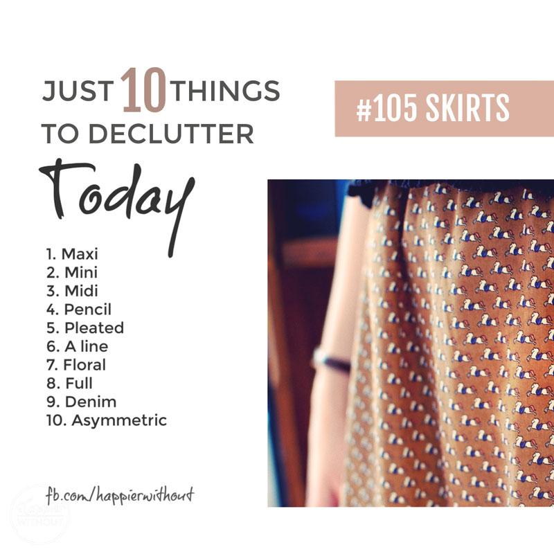Declutter skirts