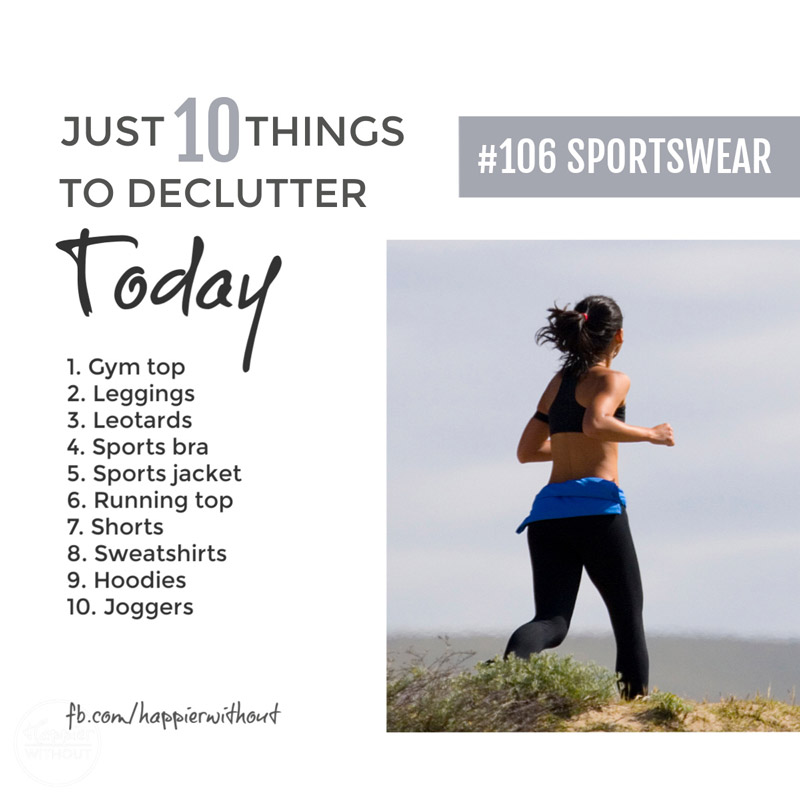 Declutter sportswear