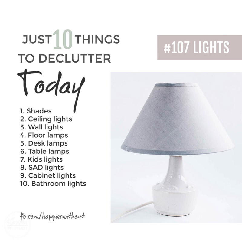 Declutter lights