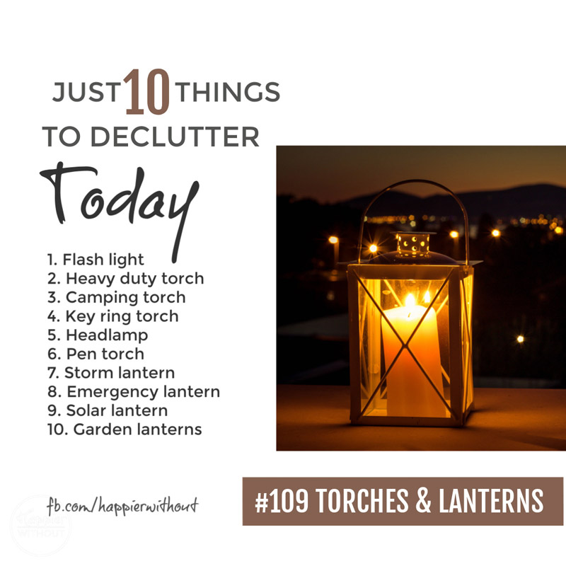 Declutter torches and lanterns