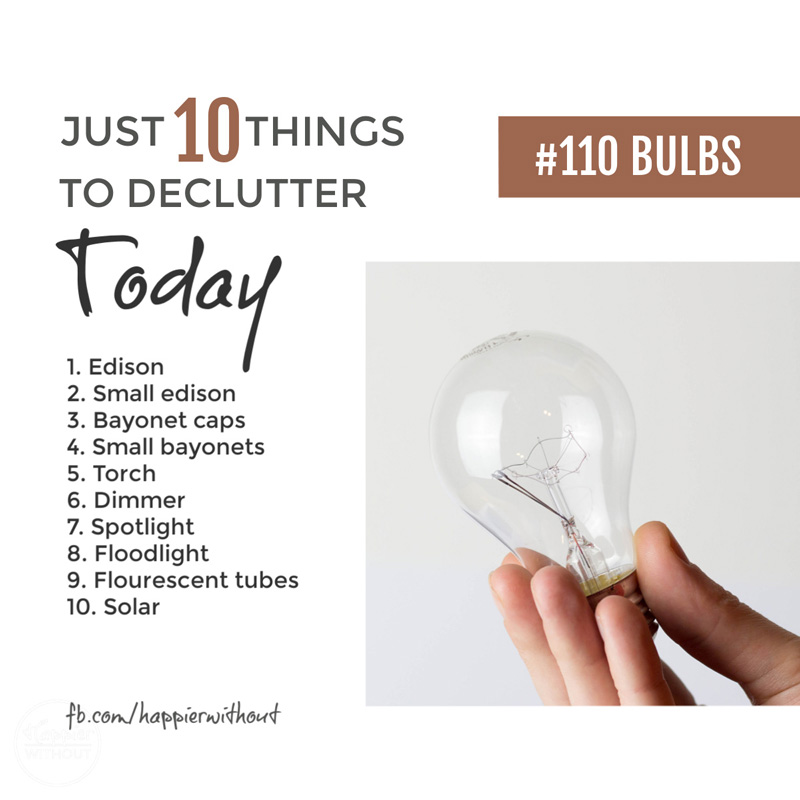 Declutter light bulbs