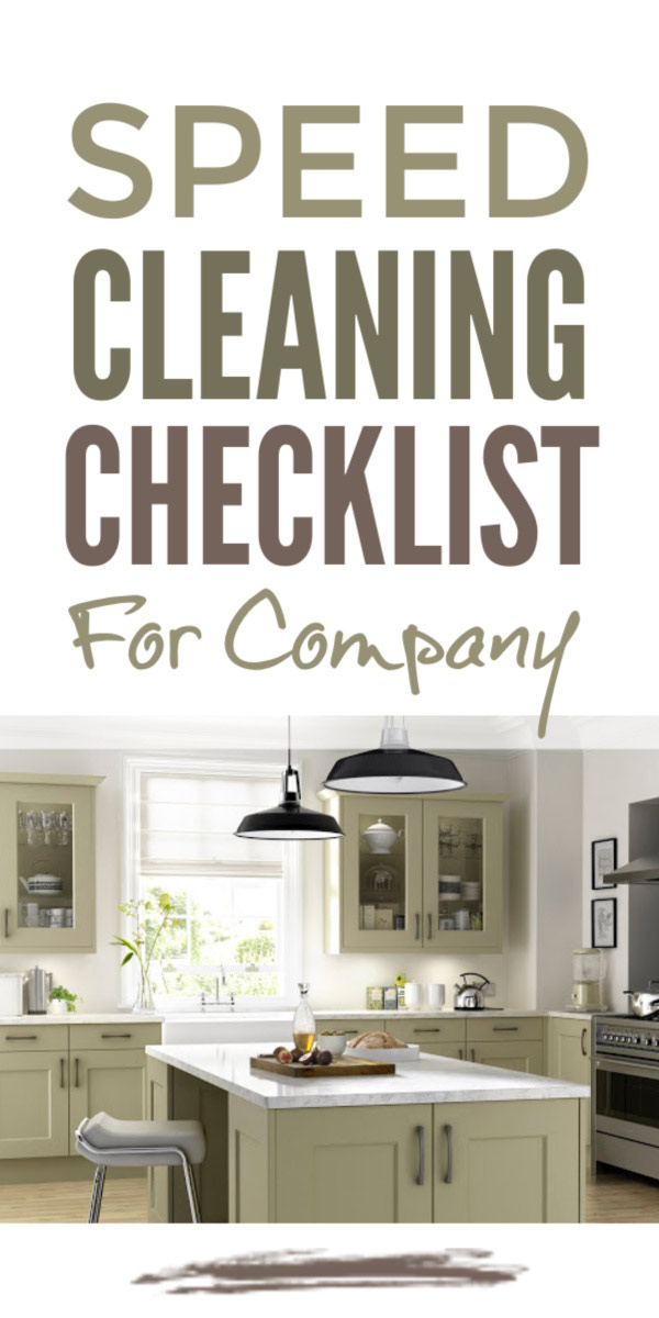 Speed clean your home for company with this speed cleaning checklist and professional speed cleaning tips and hacks to get your home including your kitchen guest ready #speedcleaning #cleaningchecklist #cleaningtips #cleaninghacks #cleaning