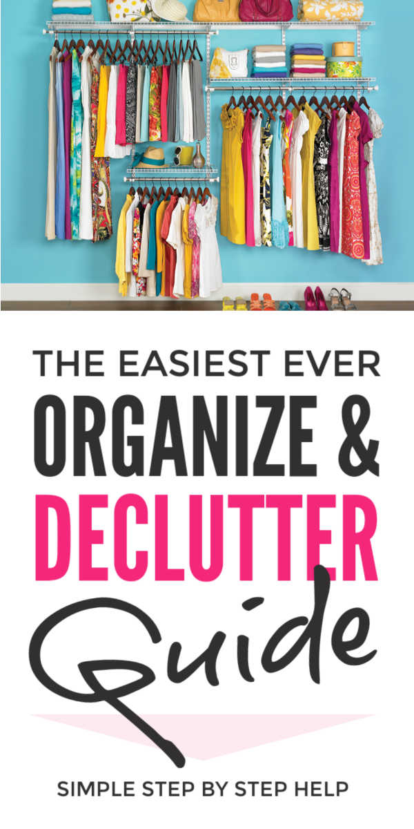 Organization ideas to declutter your home easily with this free step-by-step clutter free planner covering bedrooms, kitchens, offices, paperwork, kids stuff and more. Use these simple declutter life hacks to organize even small spaces and reclaim your home #organize #declutter #organization #planner #lifehacks #organizing #clutterfree