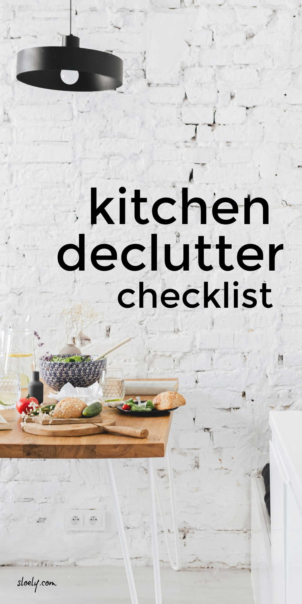 How To Declutter Kitchen Counters & Cabinets