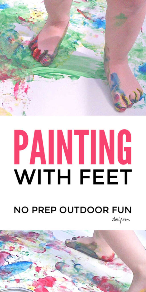 Kids Painting With Feet