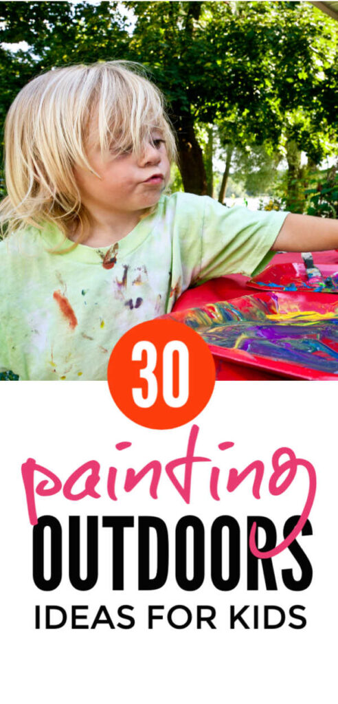 Kids Painting Ideas Outside