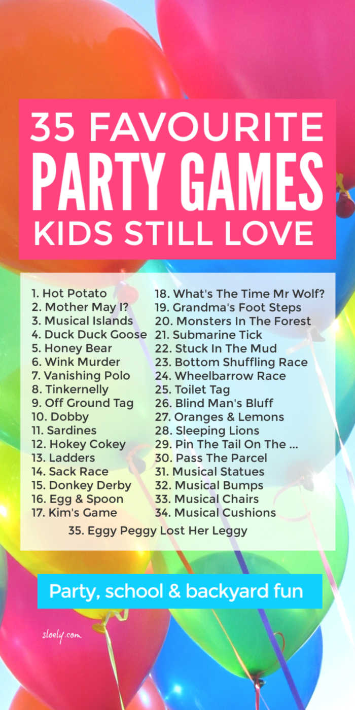 Fun Kids Party Games