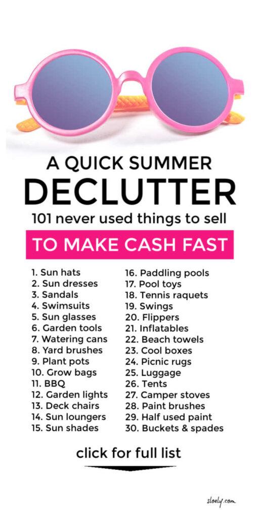 Summer Declutter To Make Extra Money