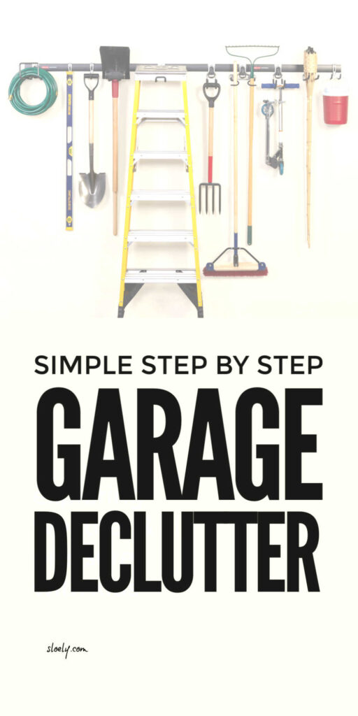 Simple Garage Declutter