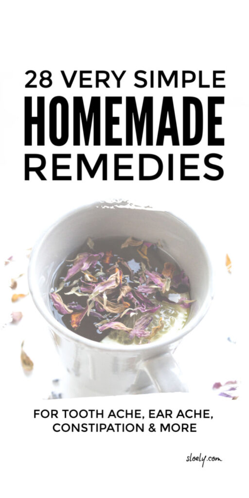 Simple Homemade Health Remedies