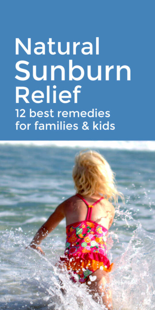 Natural Sunburn Relief For Families & Kids