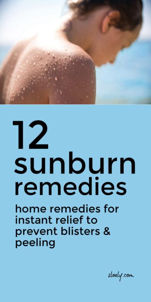 Best Quick Sunburn Remedies & Relief