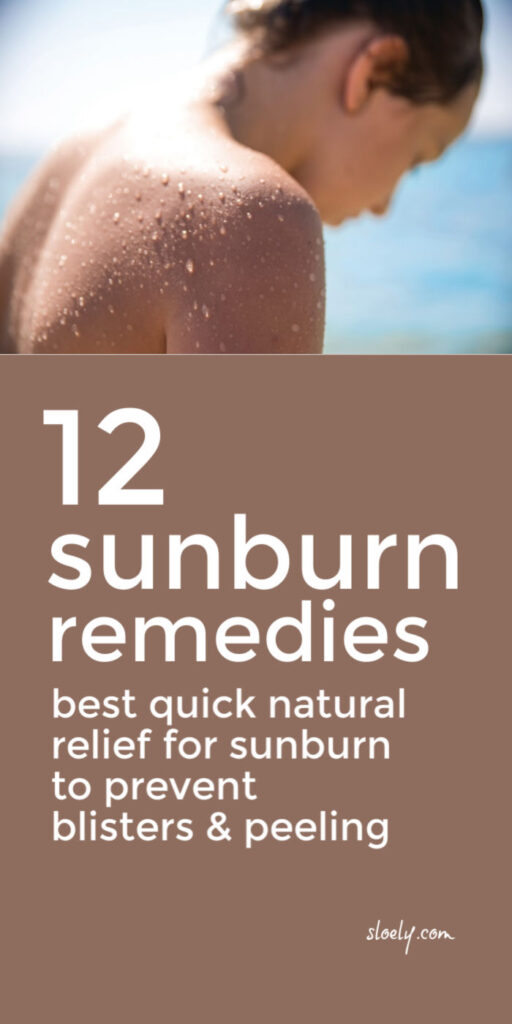 Natural Sunburn Remedies & Relief