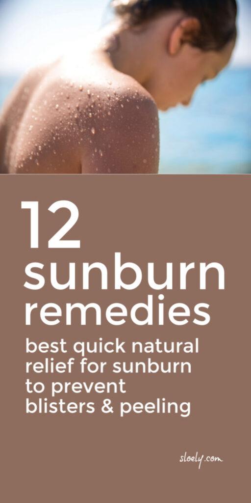 Natural Sunburn Remedies & Relief