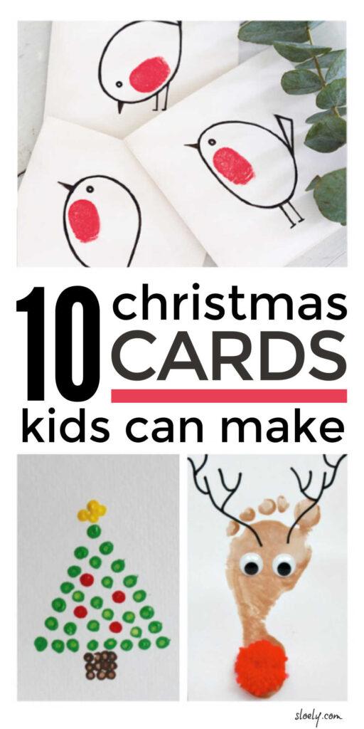 Homemade Christmas Cards Kids Can Make