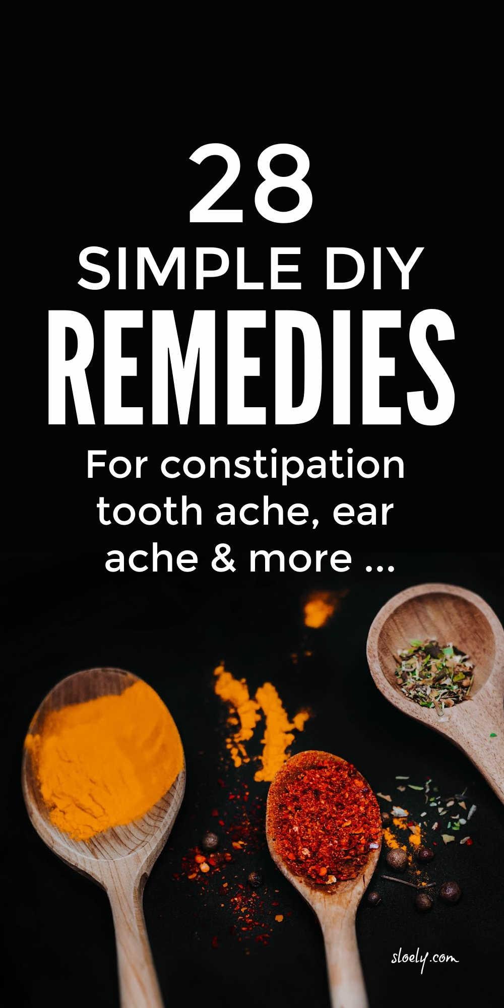 Simple DIY Health Remedies